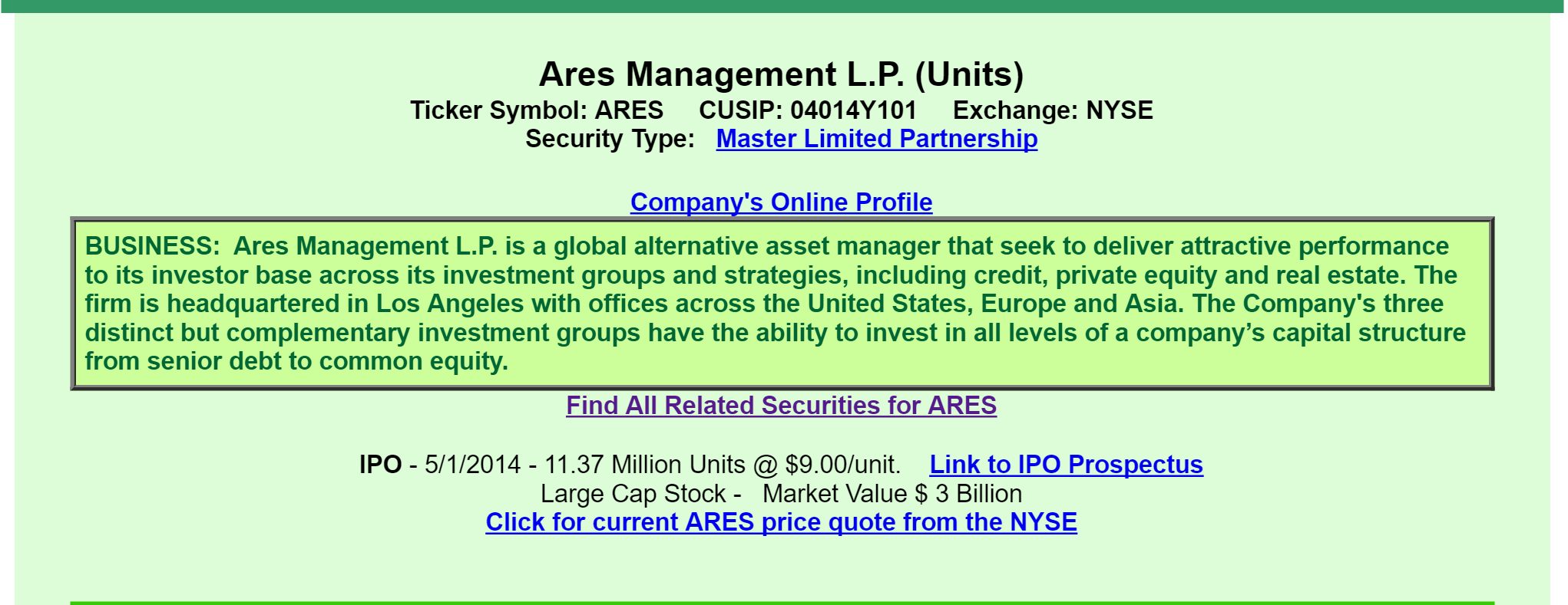 Ares management viewed through the eyes of a preferred investor a quick review informs us that ares is a master limited partnership mlp and functions as an asset manager of private equity credit and real estate buycottarizona