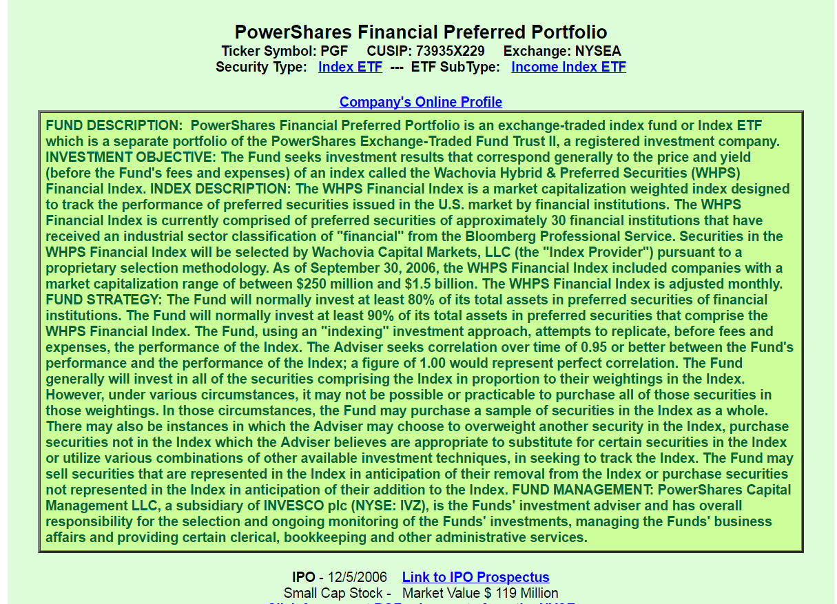 Preferred Stock Exchangetraded Fund Pgf A Good Or Bad Investment