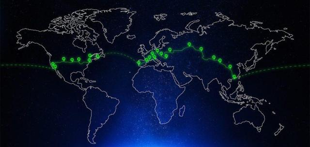 80 days around the world route