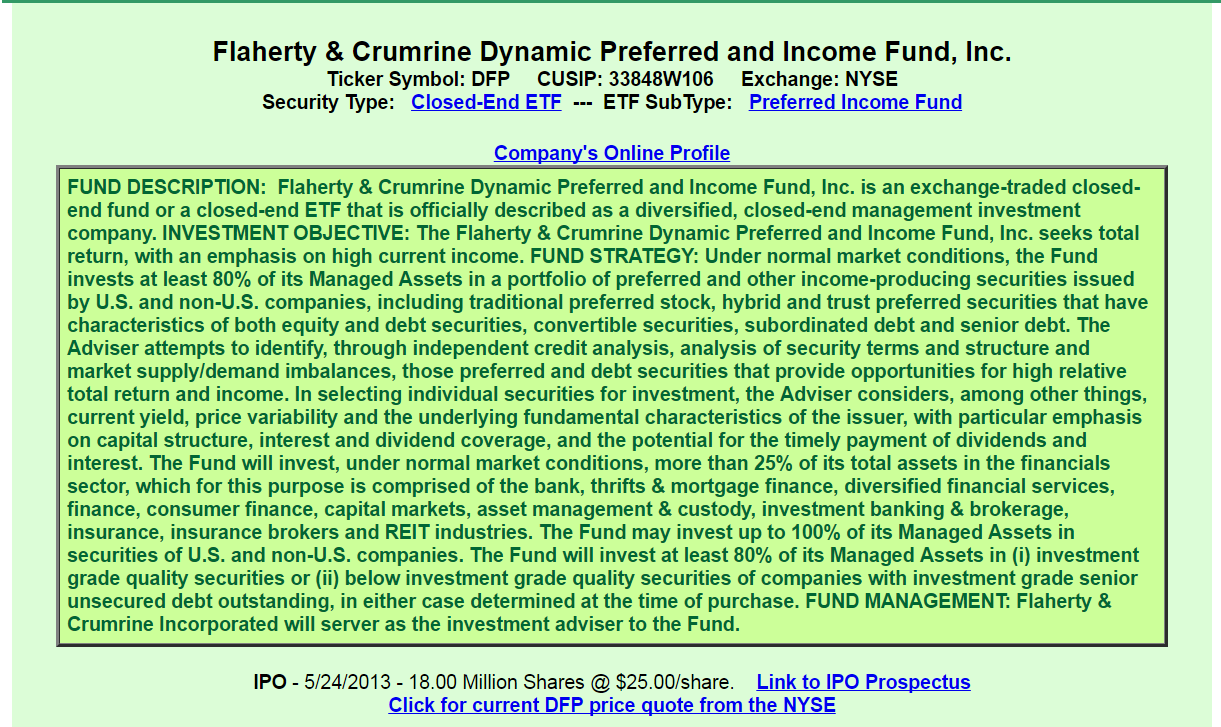 Flaherty crumrine dynamic preferred and income fund inc dfp lets dig into the facts learned from dfps prospectus management fees which includes fees to an advisor and servicing agent is quite complicated and biocorpaavc Images