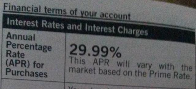 Big Lots Credit Card Interest Rate