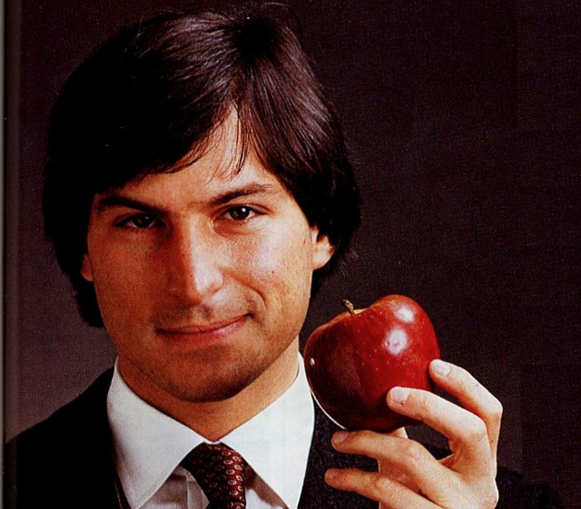 Photo of a young Steve Jobs via Wired