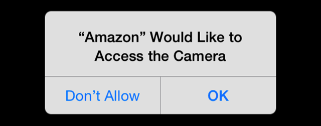 iPhone app permissions