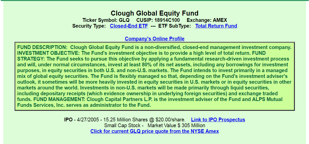Clough Global Equity Fund A Good Or Bad Investment Clough Global