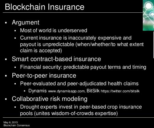 Blockchain insurance - Blockchain Consensus Protocols, by Melanie Swans