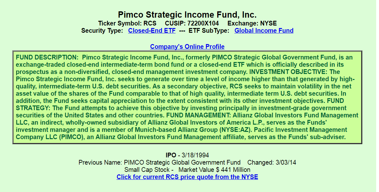 Pimco Strategic Income Fund A Good Or Bad Investment Pimco