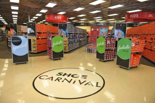 Shoe Carnival Inc. is an American retailer of family footwear. The company operates stores throughout the midwest, south, and southeast regions. It was founded by David Russell in and is headquartered in Evansville, Indiana.