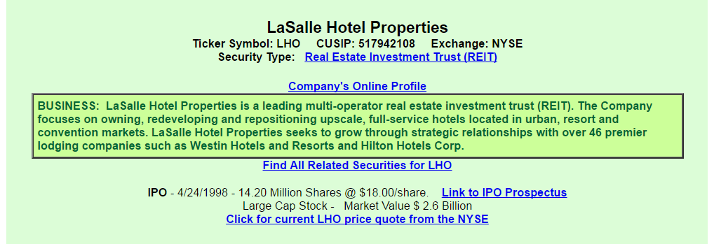 La Salle Hotel Properties A View From The Perspective Of A