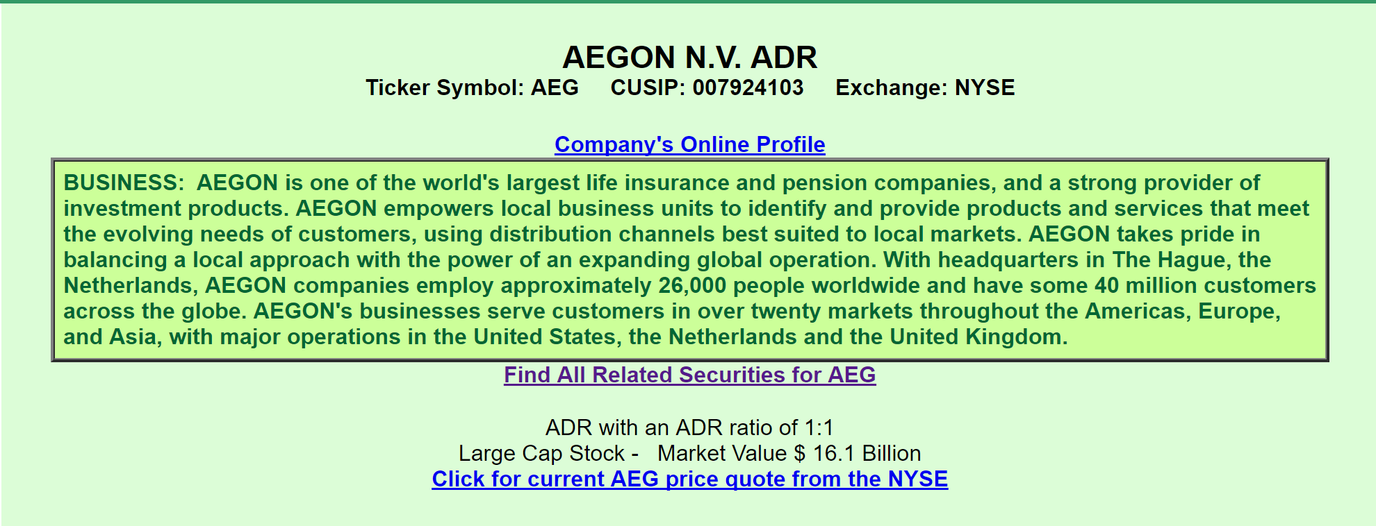 Aegon a view from the perspective of a preferred investor aegon a quick review informs us that aeg is that it is one of the worlds largest life insurance and pension companies it ipod with a market value of 161 buycottarizona Image collections