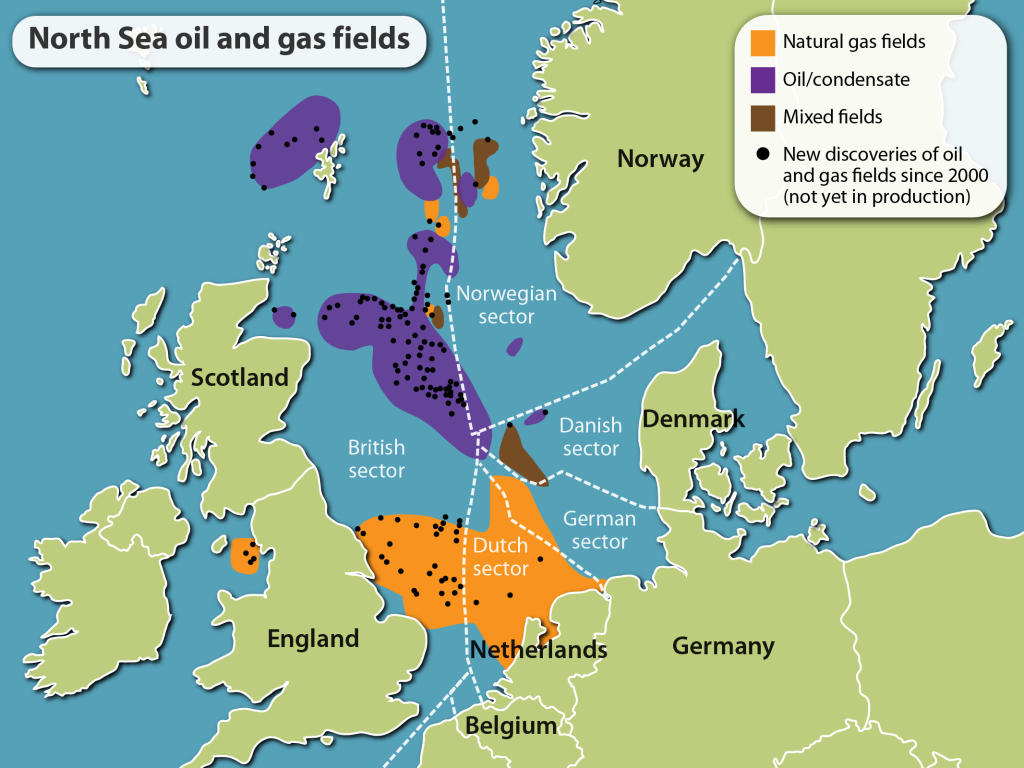 Locations Of Oil And Natural Gas In Europe