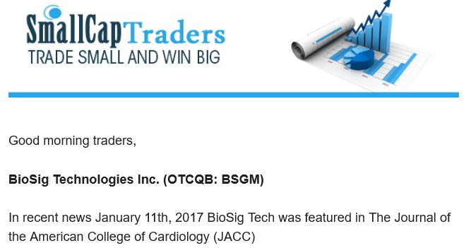 BioSig Technologies (BSGM) Shenanigans, Stock Promotions ...