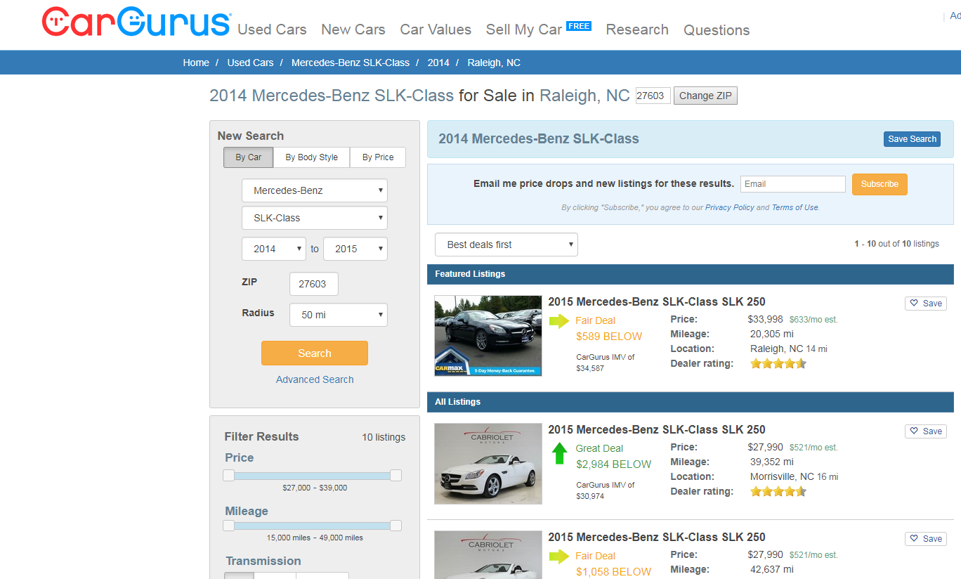 Cargurus Ipo Strong Product Within A Growing Niche Cargurus Inc