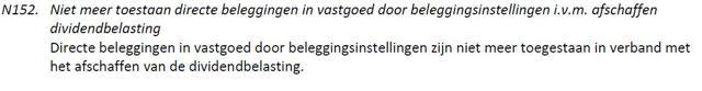 Dutch REIT policy