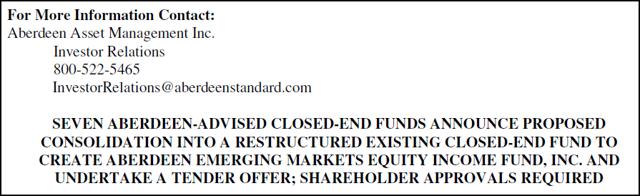 aberdeen press release merger info