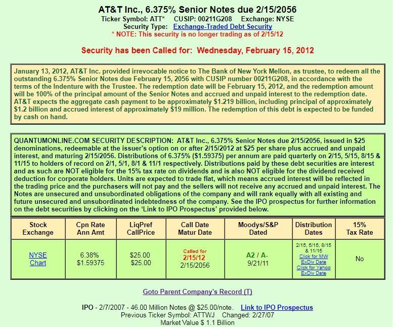 Att This 535 Baby Bond Started Trading On The Nyse Att Inc