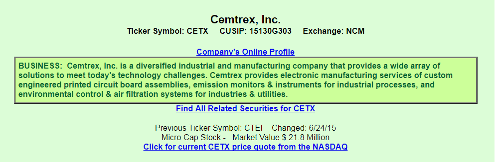 Cemtrex Inc From The Perspective Of A Preferred Investor Cemtrex