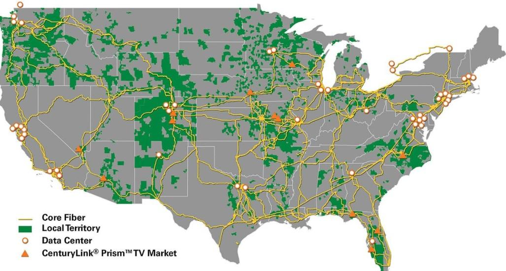 CenturyLink Can The Level Acquisition Save The Dividend - Us fiber map