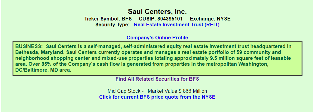 Saul Centers Inc From The Perspective Of A Preferred Investor