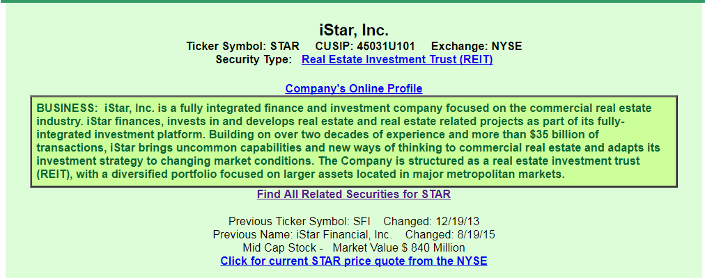 Istar Inc From The Perspective Of A Preferred Investor Istar Inc