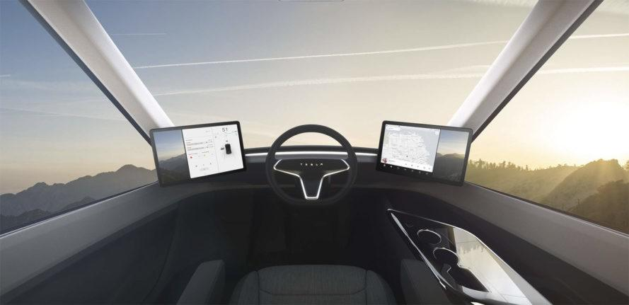 Image result for tesla semi truck seat