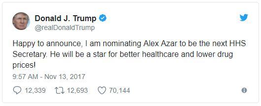 GraycellAdvisors.com ~ Trump Tweet - Nov 2017