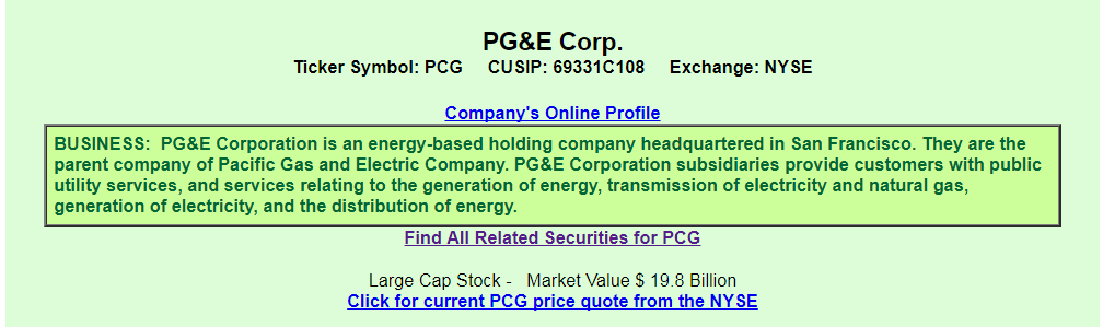 Pge From The Perspective Of A Preferred Investor Pge Corporation