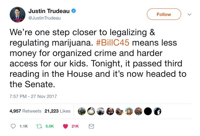 Trudeau Marijuana