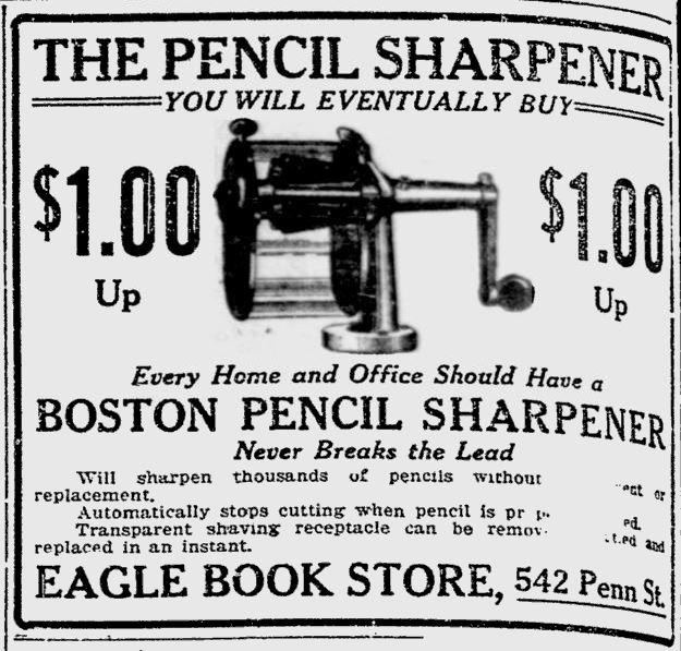 1915 Newspaper Ad for a Boston Sharpener