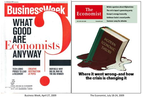 Business Week and The Econmist 2009 Magazine Covers Image