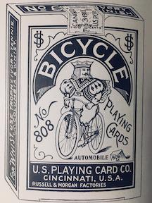 Turn of the century Bicycle playing cards.