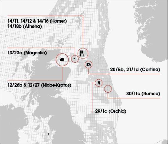 Bildresultat för North Sea, the Licence P.1989 Blocks 14/11, 12 & 16
