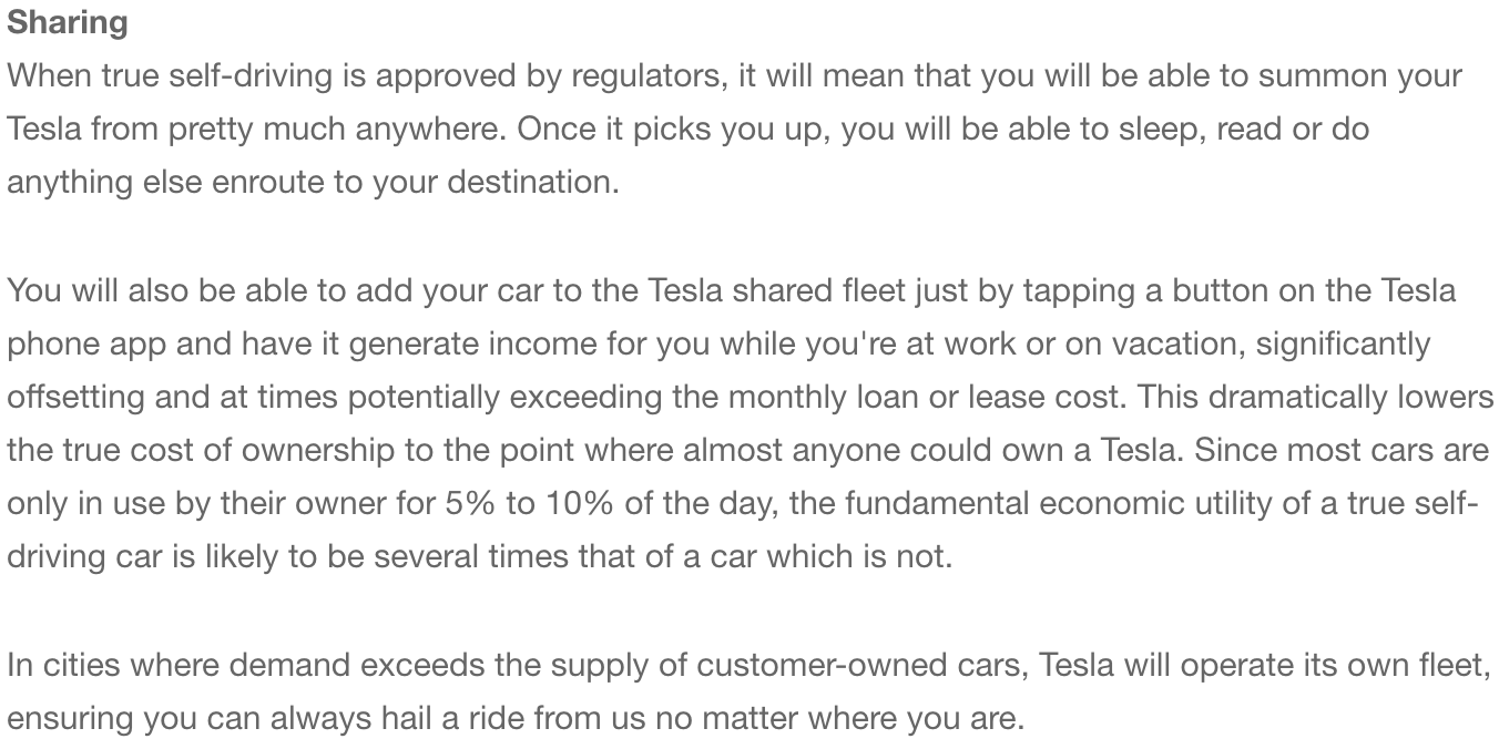 The Tesla Network Ridesharing Platform Is A Bigger Opportunity