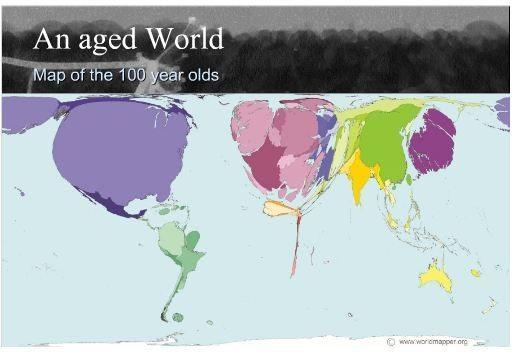 An Aged World Map