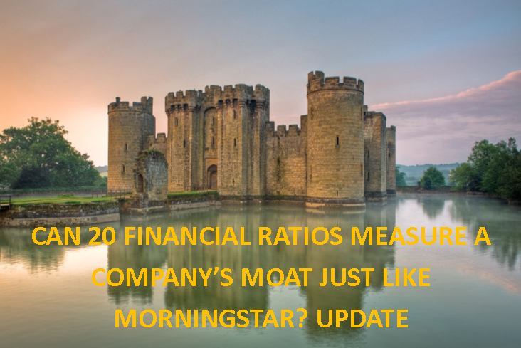 Can 20 Financial Ratios Measure A Company's Moat Just Like Morningstar? Update
