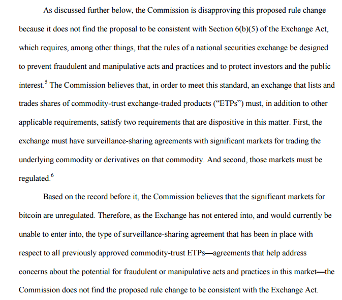 Why The Bitcoin ETF Denial Is Actually A Good Thing