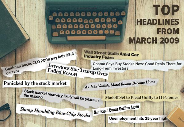Top headlines from March 2009