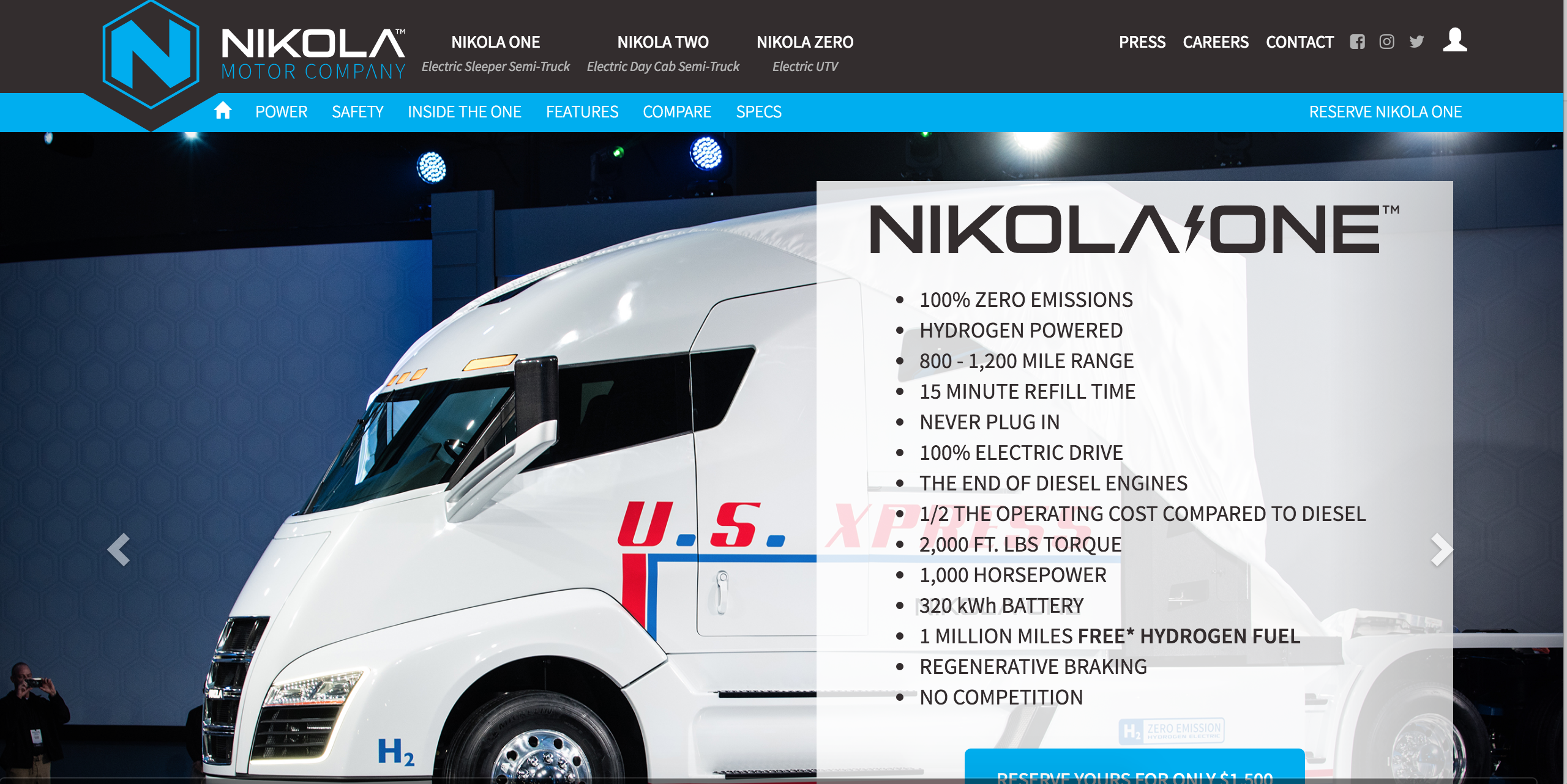 A Startup By The Name Of Nikola Motors Recently Launched Semi Truck Based On Hydrogen Fuel Cell Technology
