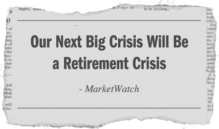 Image result for a retirement crisis