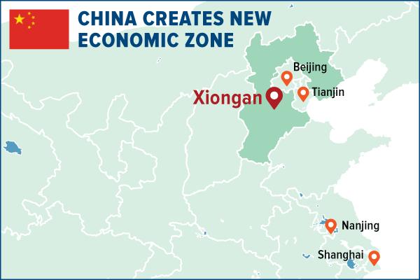 China creates new economic zone
