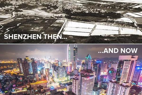 Shenzhen then and now.
