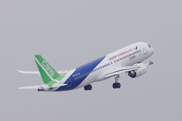 Competition to Boeing-Airbus as China's first Jetliner completes maiden flight