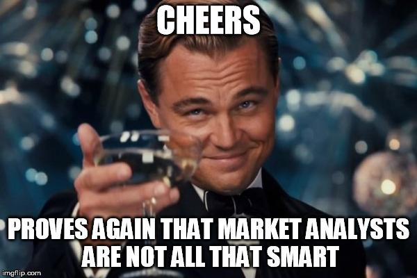 Image result for dumb stock analysts