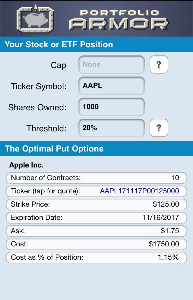 Screen capture via the Portfolio Armor iOS app.