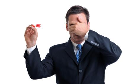 Image result for selecting stocks blindfolded