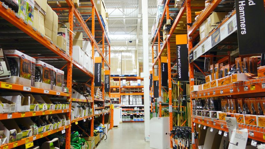 Home Depot full screen background image We Would Expect Greater Gross Profit And Net Earnings Figures If Home Depot Were To Successfully Grow This Division Of Business