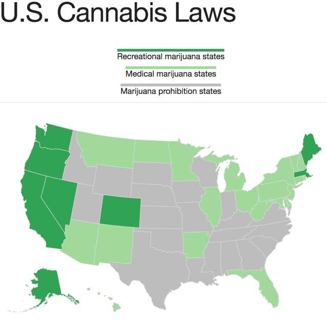 Medical Marijuana States Map 2016.3 Hot Pot Stocks To Watch Seeking Alpha