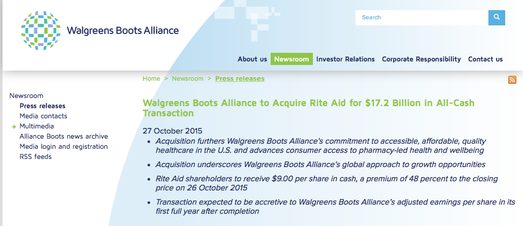Should Walgreens Leave Rite Aid At The Merger Altar? - Rite Aid