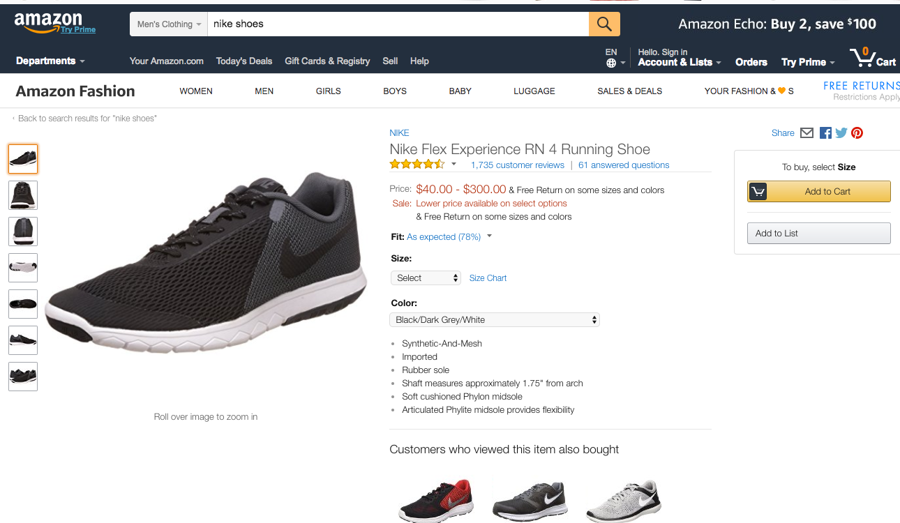 First, as far as I can see, Nike is already selling on Amazon (at least as  of this moment). As you can see from the screenshot below, Nike shoes are  already ...