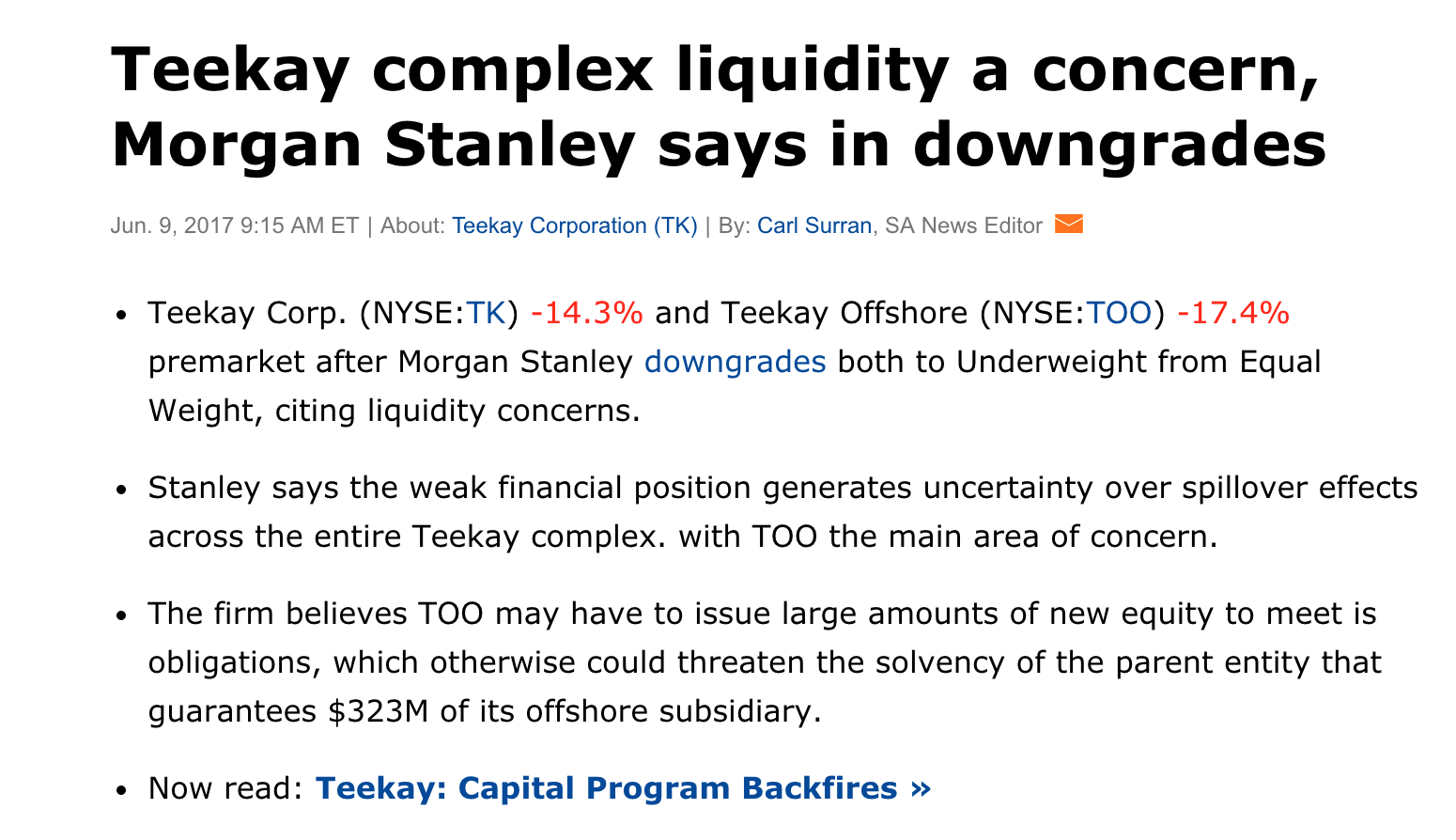 Teekay Corporation: Strong Buy Up To $15/sh As Thesis Develops