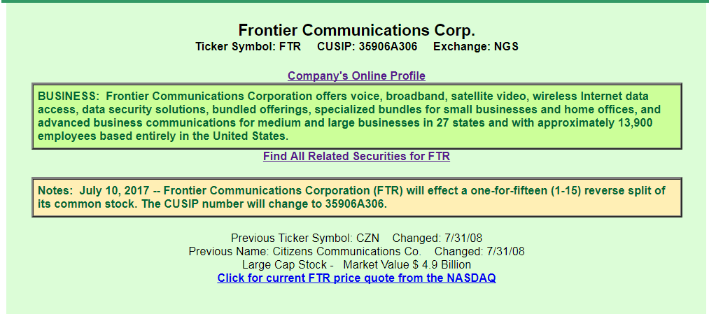 Frontier Communications The Company I Love To Hate Frontier